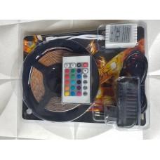 5 metre Silikonlu RGB Şerit Led + Adaptör + Kumanda
