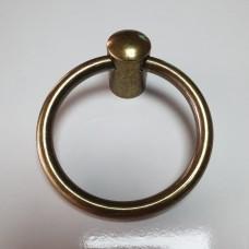 Halka kulp çekmece dolap kulpu sarkaç antik sarı - antik bakır siyah 6.5 cm