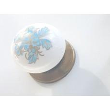 297/147 Düğme Antik Porselen Görünümlü Kulp Çekmece Kulplar Dolap Kulpu Kulpları mavi kulp