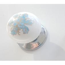 Düğme Krom  Dolap Kulpu Kulpları mavi kulp