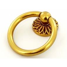 Altın Antik Yüzük Çekmece Kolu Dolap Kulpu Sarkaç Halka