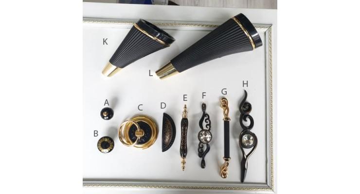 Siyah Altın Gold seri mobilya kulp ayak halka düğme 32 64 96 128 160 192 224 mm