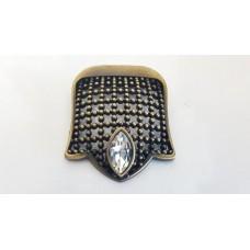 Zırh Taşlı Düğme Antik Sarı Dolap Çekmece Kulp